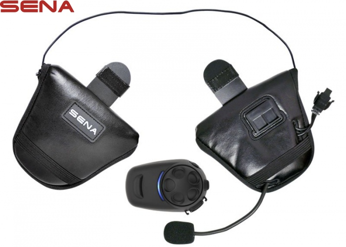 Sena SPH10H-FM Bluetooth Stereo Headset & Intercom with Built-In FM Tuner For Half Helmets