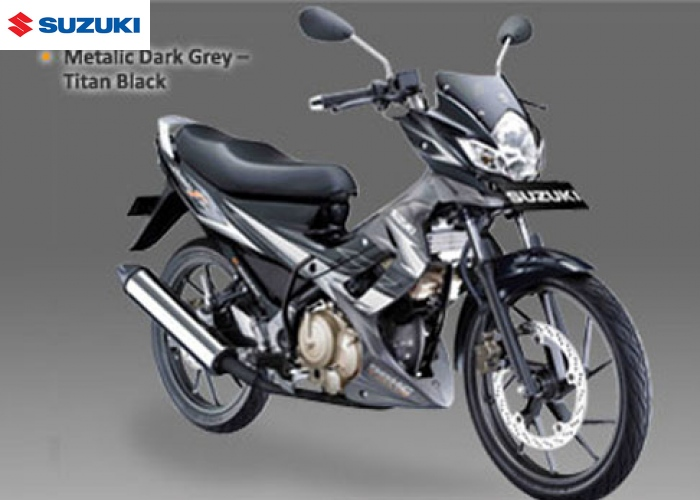Suzuki titanblack Satria F150 balck-grey