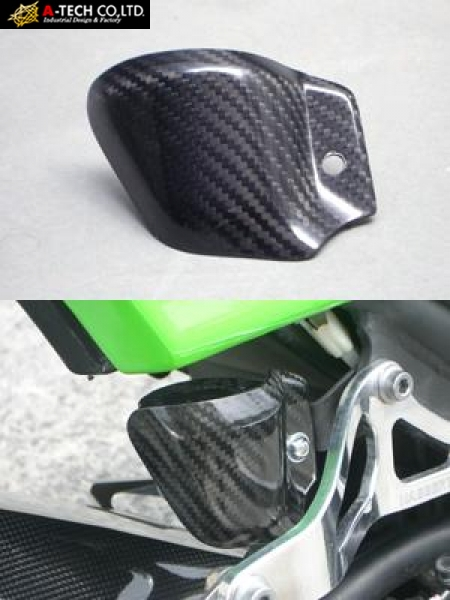 A TECH Rear Brake Tank Guard FRP Black