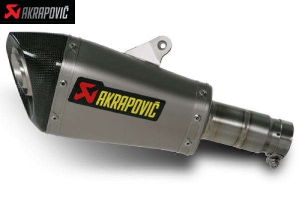 AKRAPOVIC SLIP ON OPEN EXHAUST SYSTEM WITH CONNICAL SHAPE MUFLER YAMAHA YZF R6 (2010)